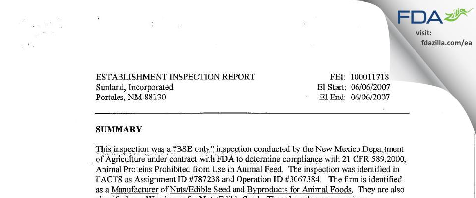 Golden Boy Foods, Ldt. FDA inspection 483 Jun 2007
