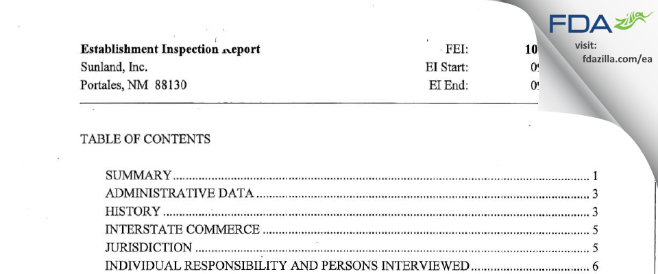 Golden Boy Foods, Ldt. FDA inspection 483 Sep 2010