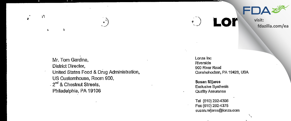 Johnson Matthey (dba Johnson Matthey Pharm. Materials) FDA inspection 483 Apr 2005