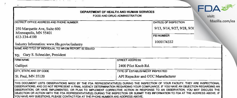 Fagron FDA inspection 483 Sep 2011