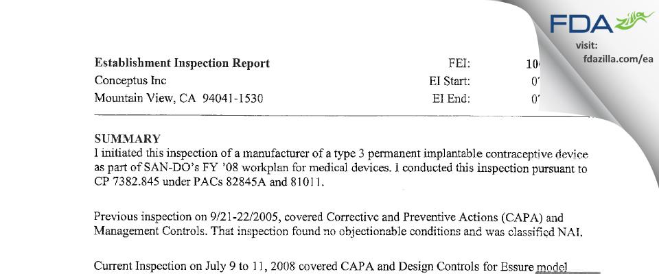 Bayer Healthcare FDA inspection 483 Jul 2008