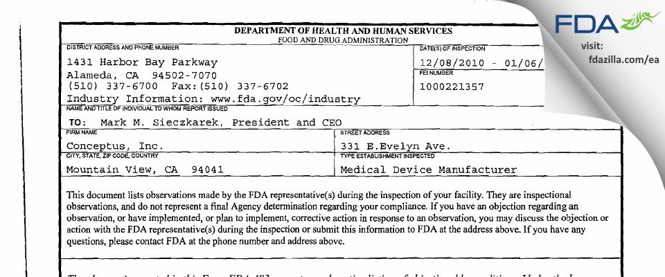 Bayer Healthcare FDA inspection 483 Jan 2011
