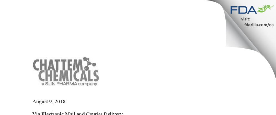 Chattem Chemicals FDA inspection 483 Jul 2018