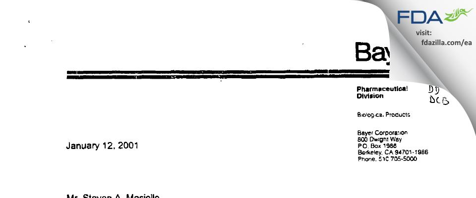 Grifols Therapeutics FDA inspection 483 Nov 2000