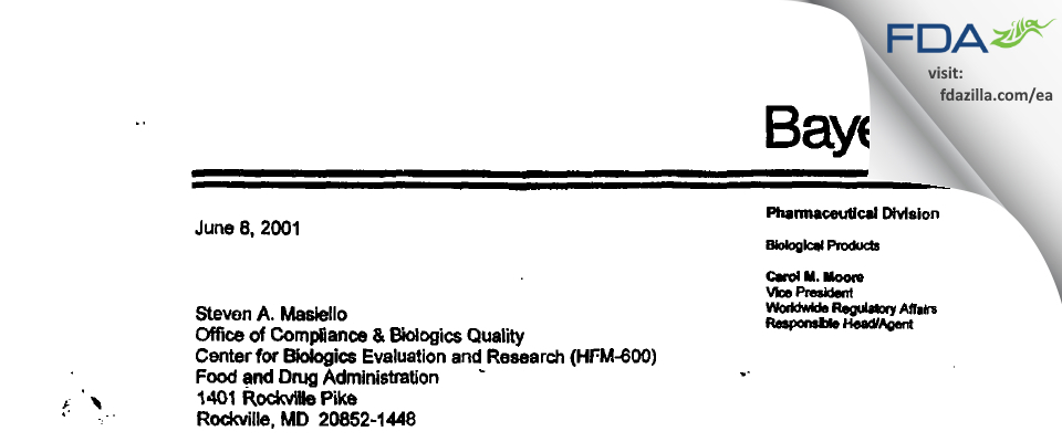 Grifols Therapeutics FDA inspection 483 Mar 2001
