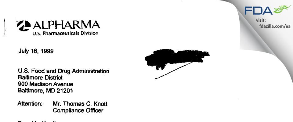 Actavis Mid-Atlantic. FDA inspection 483 Mar 2000