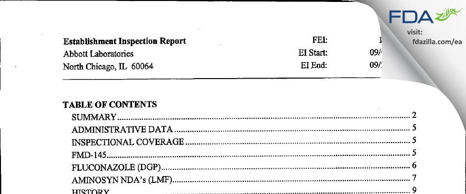AbbVie FDA inspection 483 Sep 2002