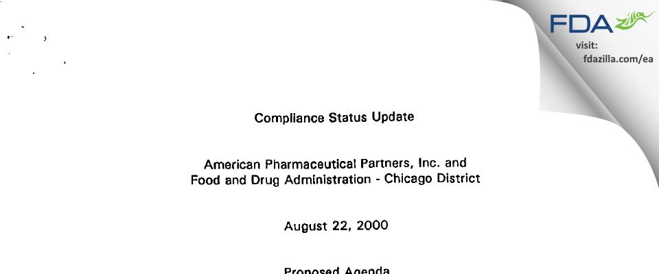 Fresenius Kabi USA FDA inspection 483 Jan 2000