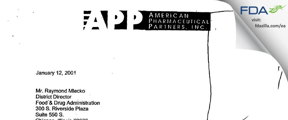 Fresenius Kabi USA FDA inspection 483 Dec 2000
