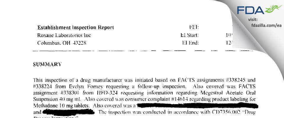 Hikma FDA inspection 483 Dec 2002