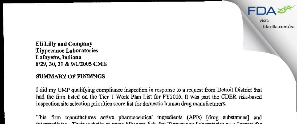 Evonik FDA inspection 483 Sep 2005