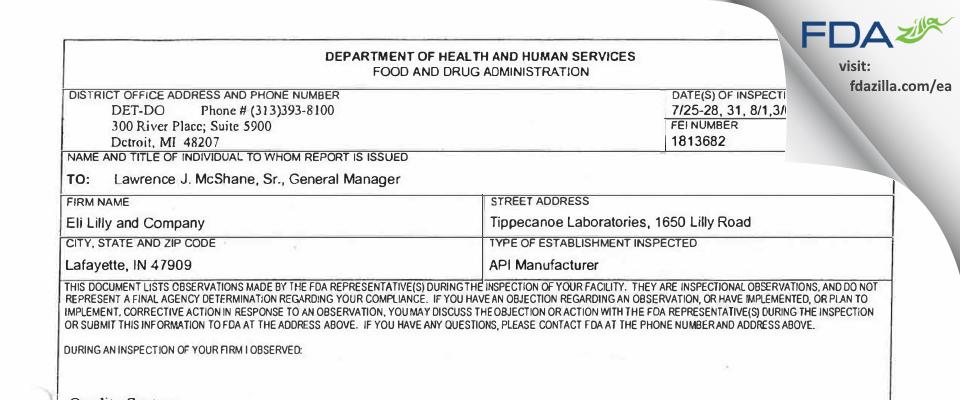 Evonik FDA inspection 483 Aug 2006