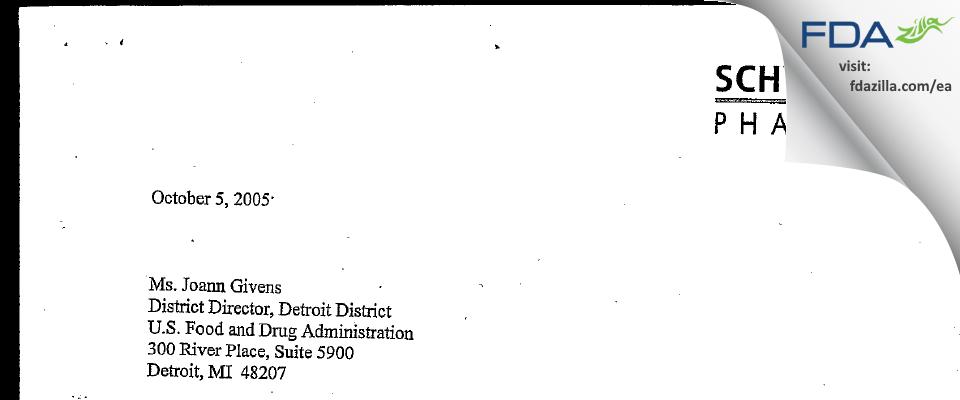 Lannett Company FDA inspection 483 Sep 2005