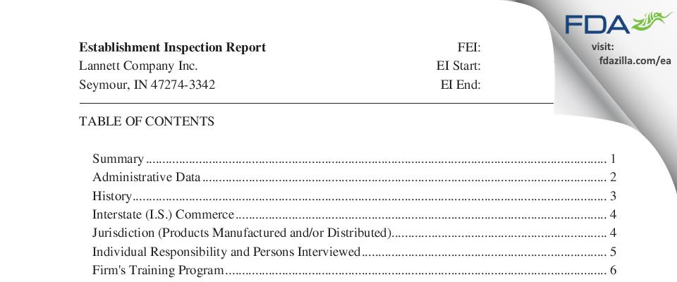 Lannett Company FDA inspection 483 Feb 2018