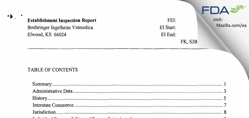 Strategic Veterinary Pharmaceuticals FDA inspection 483 Nov 2008