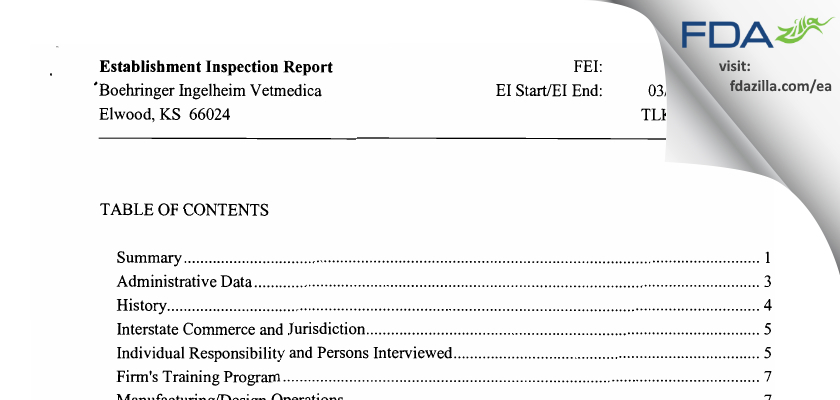 Strategic Veterinary Pharmaceuticals FDA inspection 483 Apr 2010