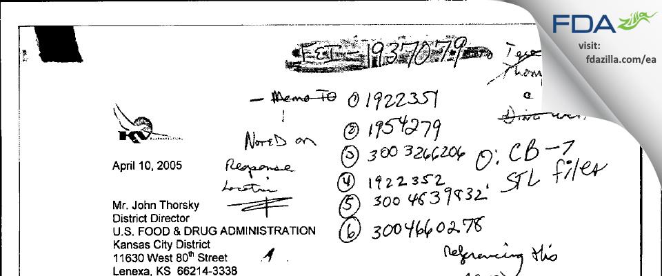 Nesher Pharmaceuticals (USA) FDA inspection 483 Mar 2006