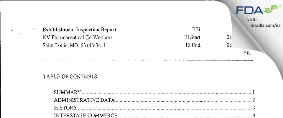 Nesher Pharmaceuticals (USA) FDA inspection 483 Aug 2008