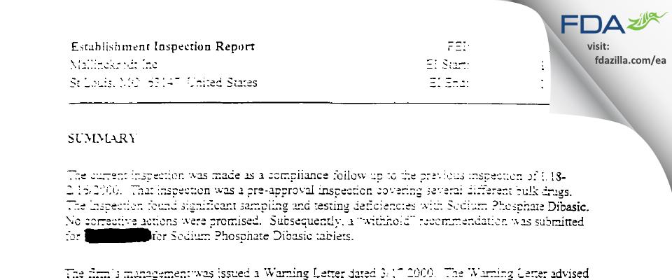 SpecGx FDA inspection 483 Jan 2001