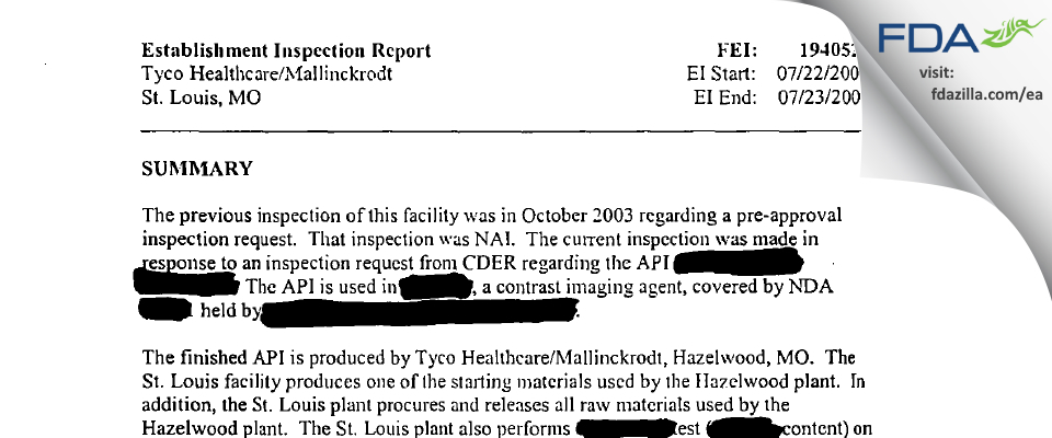 SpecGx FDA inspection 483 Jul 2004