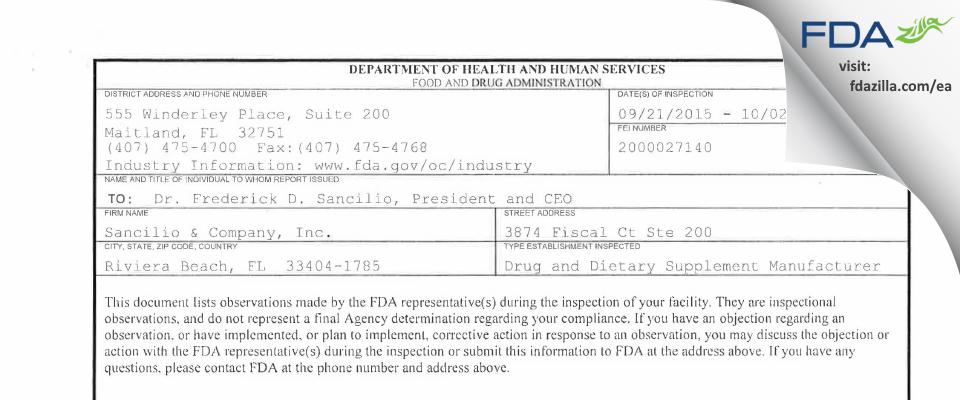 Strides Pharma FDA inspection 483 Oct 2015