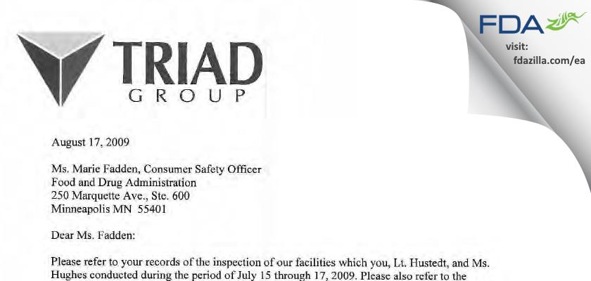 H & P Industries FDA inspection 483 Jul 2009