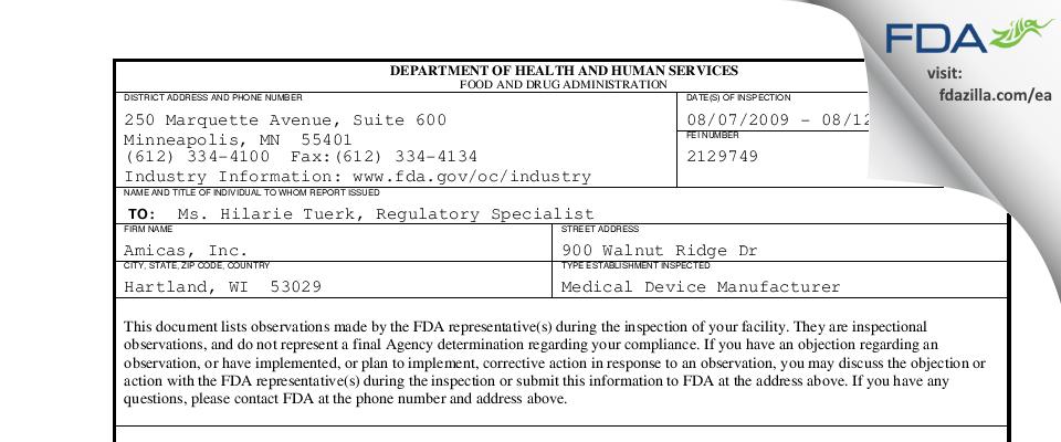 Merge Healthcare FDA inspection 483 Aug 2009