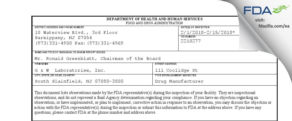 ACP Nimble Buyer FDA inspection 483 Feb 2018