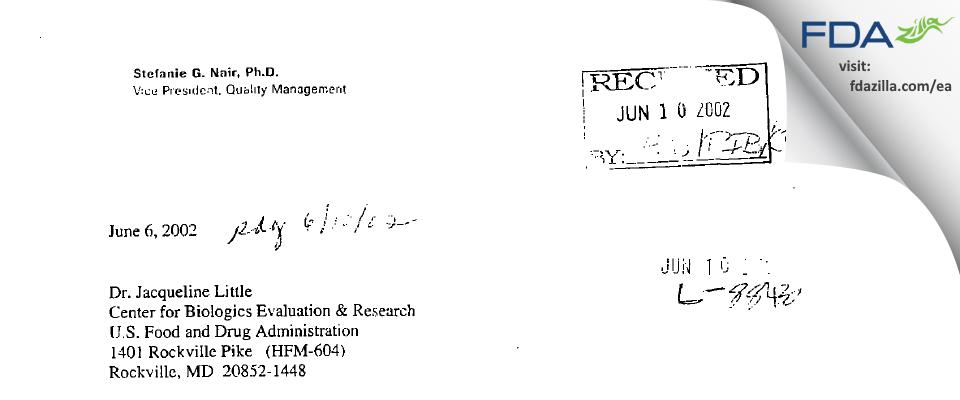 Hoffmann La Roche FDA inspection 483 May 2002