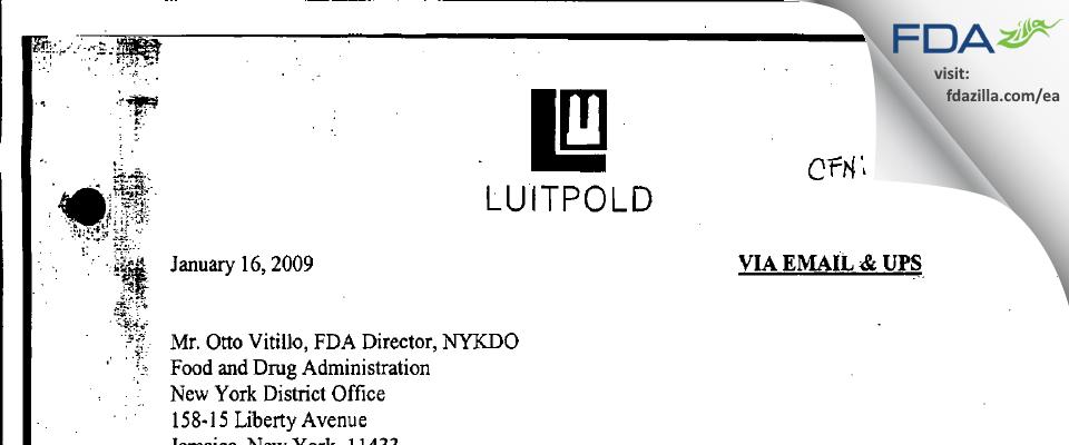 American Regent FDA inspection 483 Dec 2008