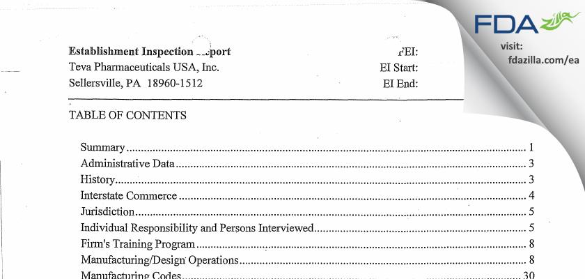 G&W PA Labs FDA inspection 483 Jun 2013