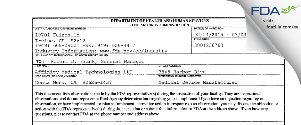 Phillips Medisize FDA inspection 483 Mar 2015