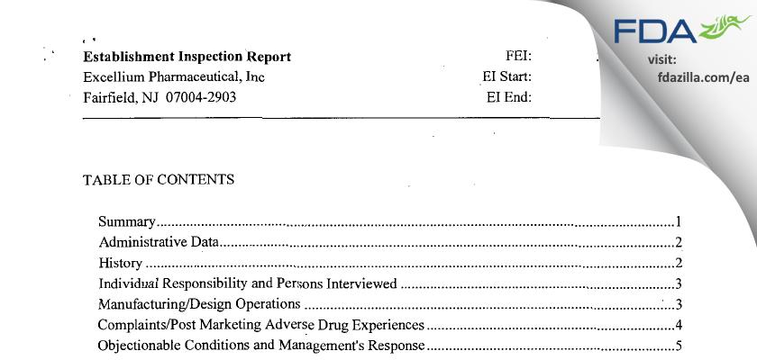 Leading Pharma FDA inspection 483 Jun 2013