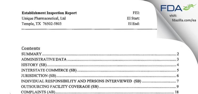 QuVa Pharma FDA inspection 483 Jun 2014