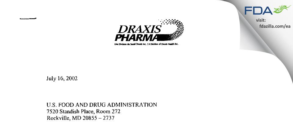 Jubilant HollisterStier General Partnership. FDA inspection 483 Jun 2002