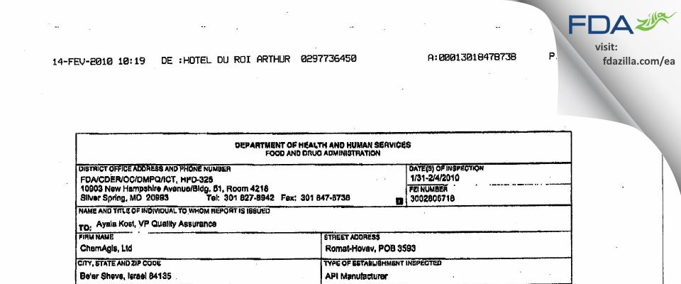 Wavelength Enterprises FDA inspection 483 Feb 2010