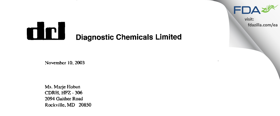 Sekisui Diagnostics P.E.I. FDA inspection 483 Oct 2003
