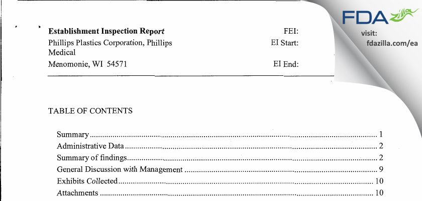 Phillips Medical FDA inspection 483 May 2013