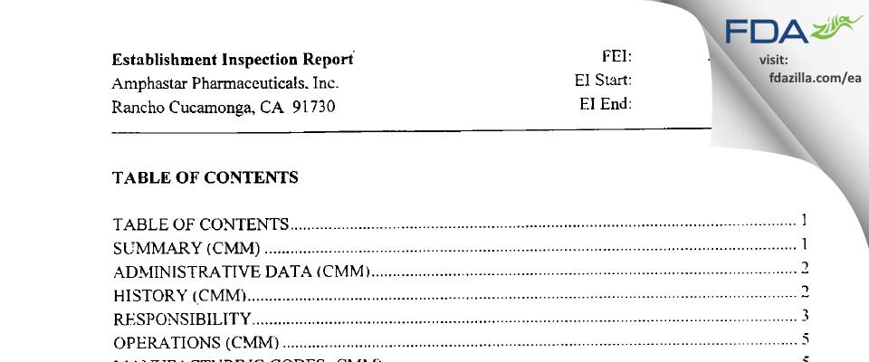 Amphastar Pharmaceuticals FDA inspection 483 Oct 2002