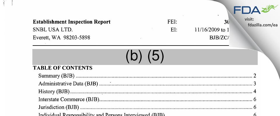 Altasciences Preclinical Seattle FDA inspection 483 Nov 2009