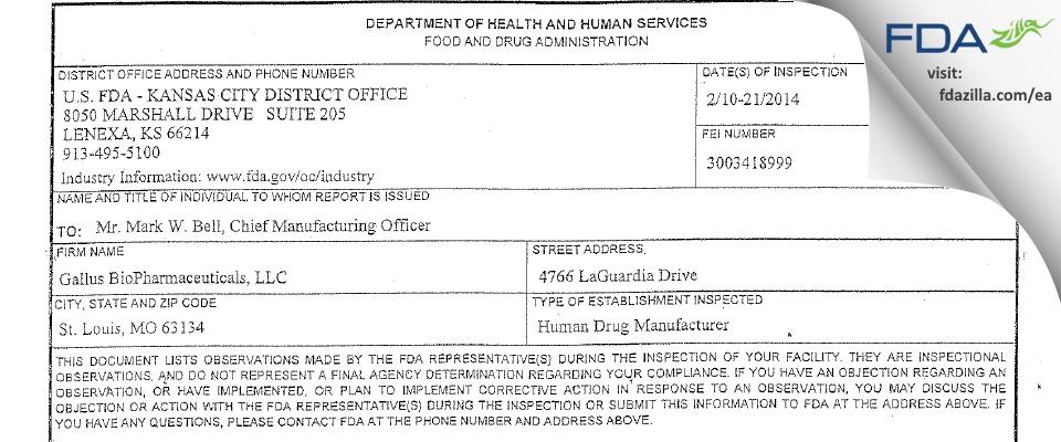 Thermo Fisher Scientific dba Patheon Biologics FDA inspection 483 Feb 2014