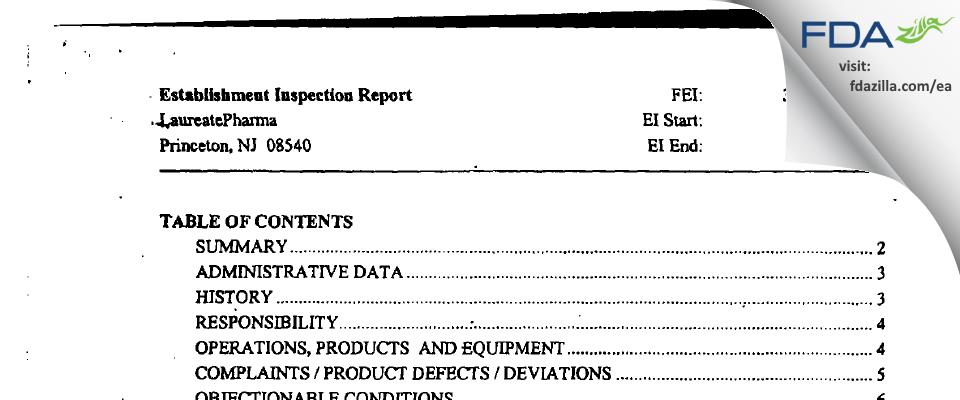 Patheon Biologics (NJ) FDA inspection 483 Jun 2003