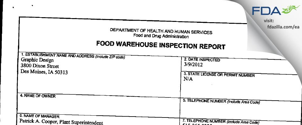RockTenn FDA inspection 483 Mar 2012
