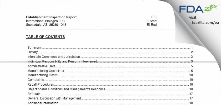 Lattice Biologics FDA inspection 483 Feb 2013