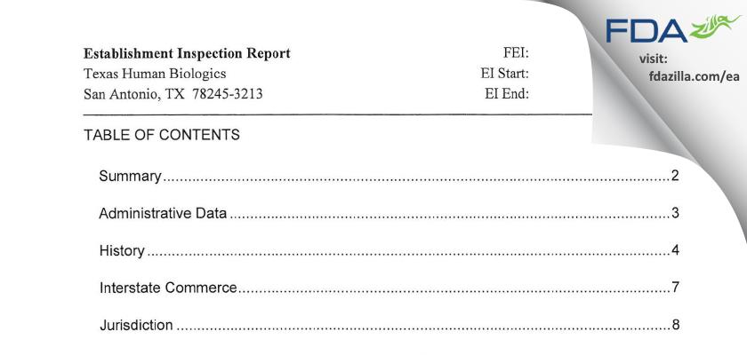 Human Biologics of Texas FDA inspection 483 May 2012