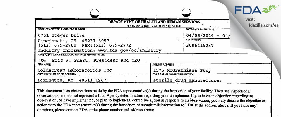 Piramal Pharma Solutions FDA inspection 483 Apr 2014