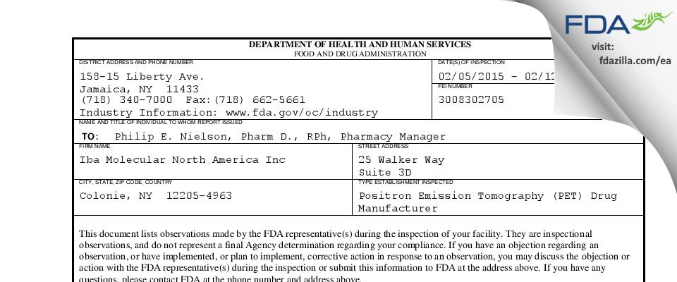 N-Molecular dba SOFIE FDA inspection 483 Feb 2015