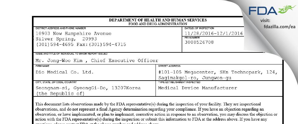 Huvexel FDA inspection 483 Dec 2016