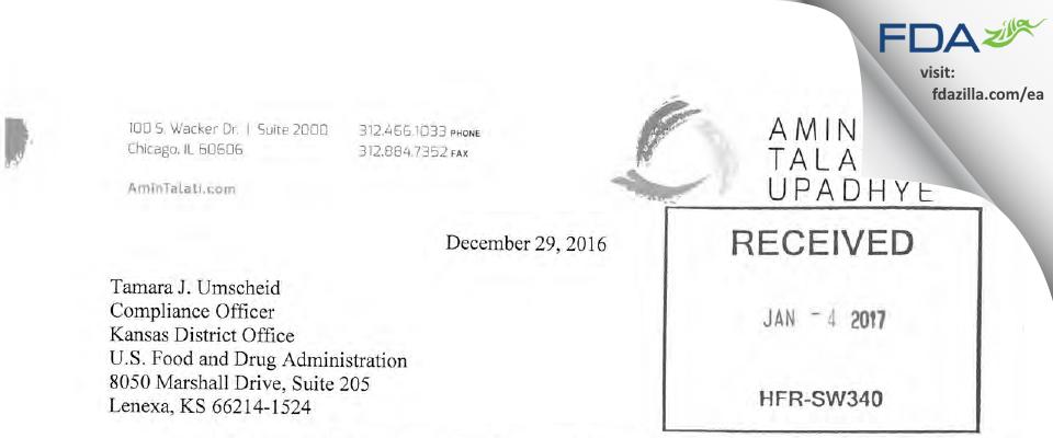 JT Naturals. FDA inspection 483 Feb 2016