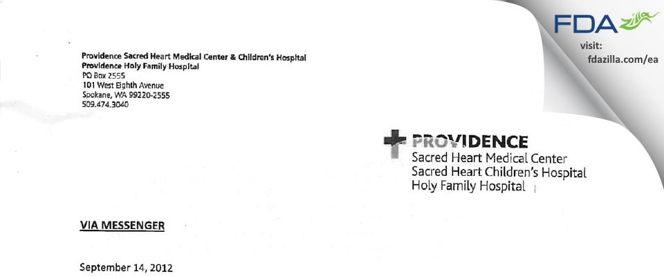 Michael E. Ring, MD FDA inspection 483 Aug 2012